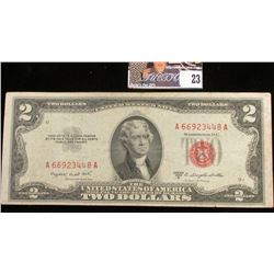 Series 1953B Two Dollar U.S. Note with Red Seal.