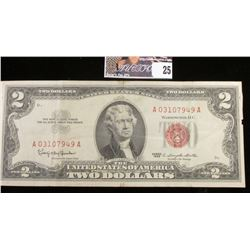 Series 1963 Two Dollar U.S. Note with Red Seal.