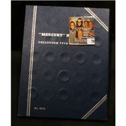 Blue Whitman folder for Mercury Dimes & 1942 P, D, S, 43 P, D, S, 44 P, D, S, 45 P, D, & S Mercury D