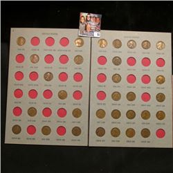 1909-29 Partial Set of Lincoln Cents in a partial folder. Includes 1909 P, 10 P, 11 P, 12 P, 13 P, &
