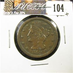 1852 U.S. Large Cent, VF+.