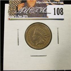 1863 Indian Head Cent, VG.