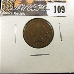 1864 Bronze Indian Head Cent, about VG