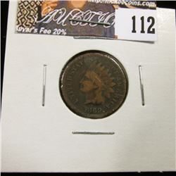 1869 Indian Head Cent, AG.