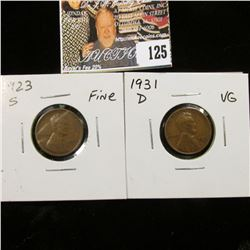 1923 S Fine & 31 D VG Lincoln Cents.