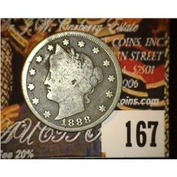1888 Liberty Nickel, VG, dark.