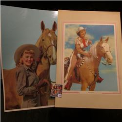 Two different large color portraits of Dale Evans and her horses. 'Doc' valued these at $20 each.