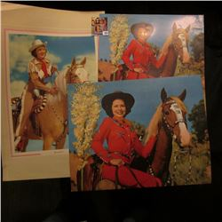 (3) different large color portraits of Women and their horses. 'Doc' valued these at $20 each.