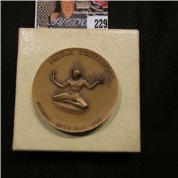 """American-Candian Numismatic Association"", ""Annual Convention Detroit Michigan 1962"" Bronze Medallio"