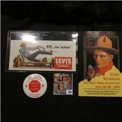"""1940 era """"Fit…for action! Levi's America's Finest Overall Since 1850"""" Advertising Ink Blotter; adver"""