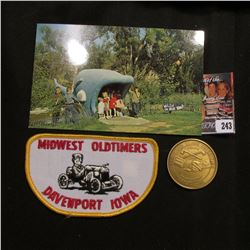 "Cloth Patch ""Midwest Oldtimers Davenport Iowa""; ""Missouri the ""Show-Me"" State"", ""Lewis and Clark Exp"