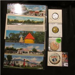 "(5) Old 1950-60 era South Dakota Post cards; token ""K & K Co./South Dakota's/Largest Chain/of/Genera"