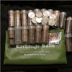 """""""Exchange Bank Davis County's Oldest Business House Bloomfield, Iowa"""" Zippered Money Pouch containin"""