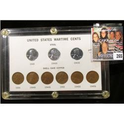 """Capital holder containing a """"United States Wartime Cents"""" Set. (9 pcs.)."""