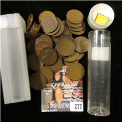 1917 & 1920 Solid Date Rolls of U.S. Lincoln Cents in a pair of plastic tubes.