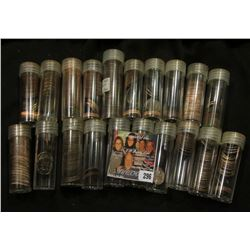 Over 375 Clad Roosevelt Dimes, most BU, all in plastic tubes. Most are 25 or more years old.