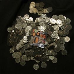 Over 500 Clad Roosevelt Dimes, all Loose; & (27) Silver Barber Dimes. All circulated.