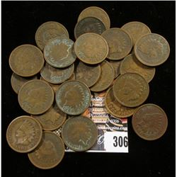 (25) Old U.S. Indian Head Cents in circulated condition.