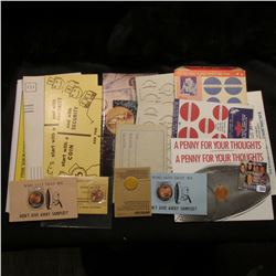 "(2) Ink Blotter cards ""Start with a Coin end with Security Ask for a Home Savings Coin-Bank""; brochu"