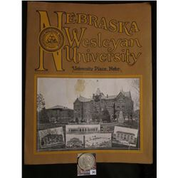 "1923 recruiting Booklet ""Nebraska Wesleyan University University Place, Nebr."" 11"" x 14""; & 1923 P U"