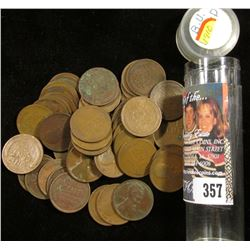 "1910 P Counterstamped ""L""; 1910 S & (48) 1910 P U.S. Lincoln Cents in a plastic tube."