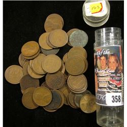 (46) 1913 P & (6) 13 D Lincoln Cents in a plastic tube.