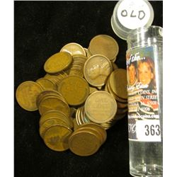 (53) 1919 Lincoln Cents, Circulated. Stored in a plastic tube.