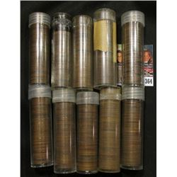 "(10) Rolls of Old U.S. Wheat Cents in plastic tubes, each marked ""OLD""."