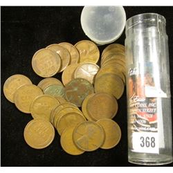 (18) 1924 P & (4) 24 S Lincoln Cents in a plastic tube.