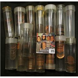 (15) Partial Tubes of Lincoln Cents, some appear to be BU, some wheat Cents.