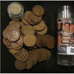 (53) 1918 Lincoln Cents in a plastic tube. Circulated.