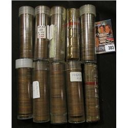 (10) Rolls of Old U.S.Wheat Cents in plastic tubes.