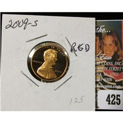 2009 S Lincoln Cent, Proof 70 Red.