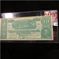 "$10 ""The Confederate States of America Fac-10-Simile"" Advertising Note ""…$1.00 Per Week Payments $1."