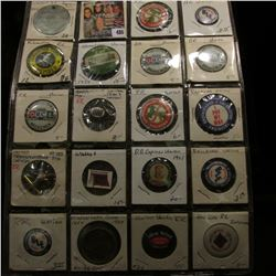 (20) Railroad & Transportation Theme Pin-backs dating back fifty or more years. 'Doc' valued this gr