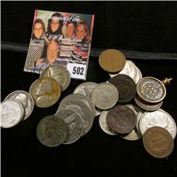 Mixed Coin Group including Indian Head Cents, Canada Silver & non-silver coins, & a small amount of