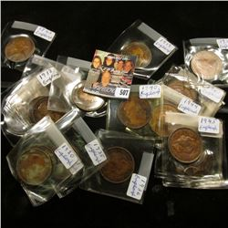 Collection of (20) Great Britain Large Pennies ranging in date back to 1863.