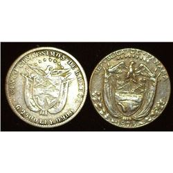 1904 Five Centimes & 1973 Ten Centimes from Panama, the first is Silver.