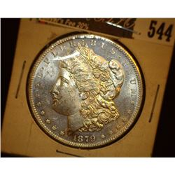 1879 S Morgan Silver Dollar, Third Reverse, Superb Brilliant Uncirculated.