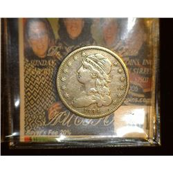 1834 Capped Bust Quarter, reduced size, Fine.