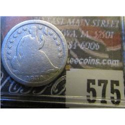 1839 O No Drapery U.S. Seated Liberty Half Dime, Good.