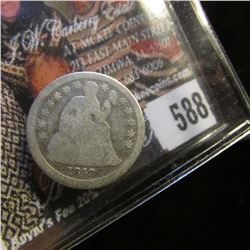 1842 U.S. Seated Liberty Dime, Good.