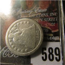 1852 U.S. Seated Liberty Dime, Good.