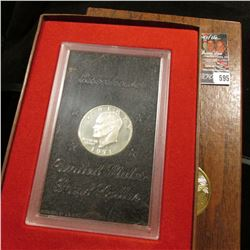 1971 S Silver Proof Eisenhower Dollar in original case as issued.