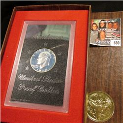 1972 S Silver Proof Eisenhower Dollar in original case as issued.