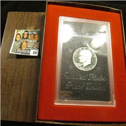1973 S Silver Proof Eisenhower Dollar in original case as issued.