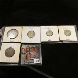 Five-piece set of U.S. Philippines World War II Coins including Silver.