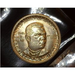 1946 S Booker T. Washington Commemorative Half Dollar, AU. Mintage 500,279.