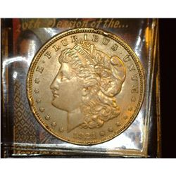 1921 P U.S. Morgan Silver Dollar, EF, rim dings.