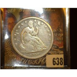 1840 Liberty Seated Half Dollar, Good+.